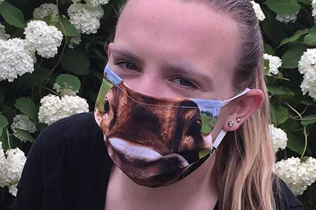 Kaitlyn Hentschel, college student and face mask advocate. Add Geisinger safety button/COVID hotline.