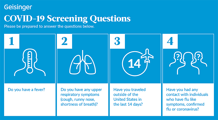 COVID-19 Screening Questions