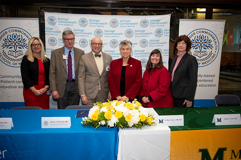 GCSOM and Marywood sign affiliation agreement