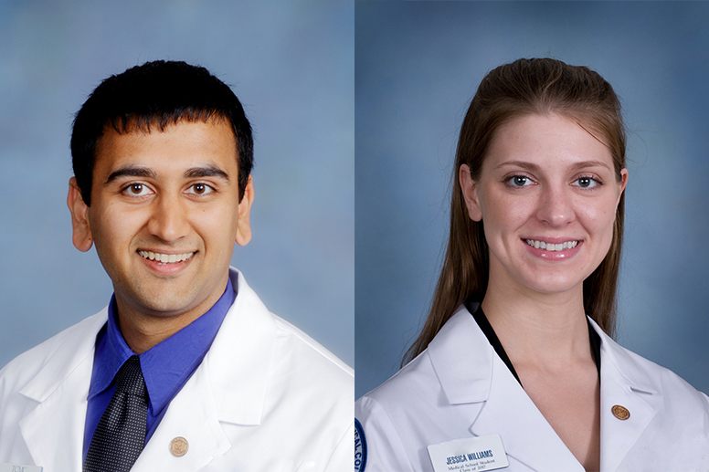 Shrut Patel, MD, Class of 2016, and Jessica Williams, MD, Class of 2017