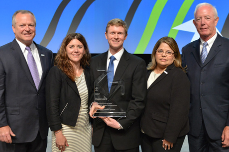 Geisinger team members receiving award from the Healthcare Financial Management Association