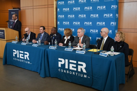 Members of the PIER Consortium at the opening news conference