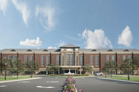 Rendering of the new Geisinger and St. Luke's hospital near Orwigsburg