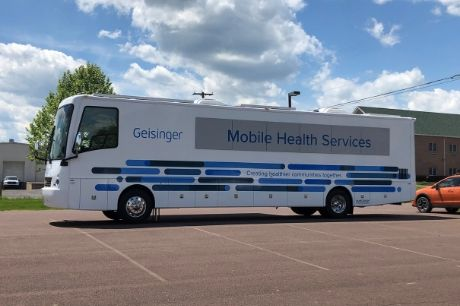Geisinger's mobile health services bus.
