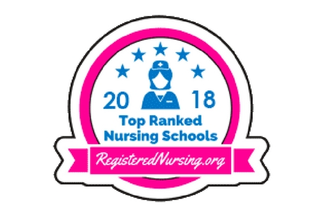 2018 Top Ranked Nursing Schools ranking logo