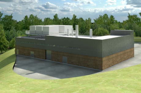 A rendering of the new CoGen plant at Geisinger Wyoming Valley