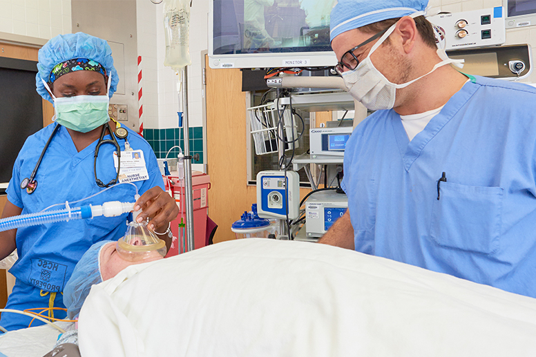 Careers with lasting impact - A doctor preps for surgery