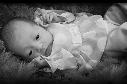 Baby - Black and White photo