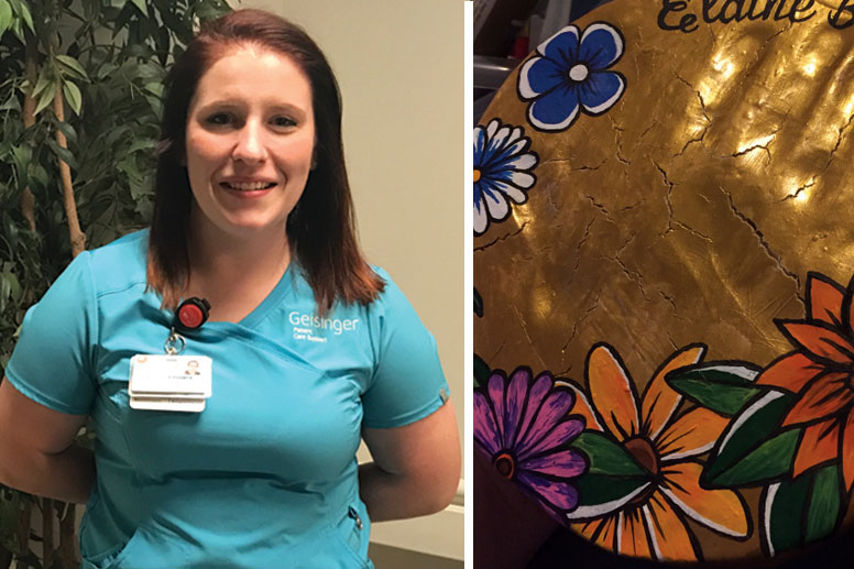 Jamie LaPointe - a nursing assistant in the ICU at Geisinger Community Medical Center