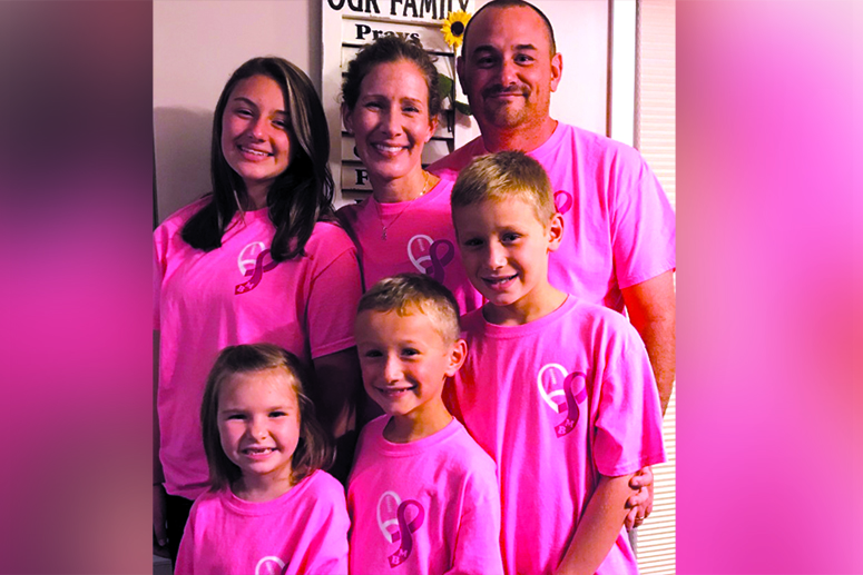 geisinger patient family in pink to support breast cancer