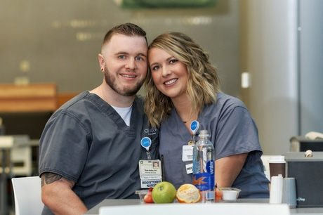 Geisinger nurses Ryan Dailey and Erica  Horn