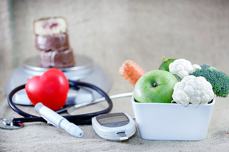 Veggies and diabetes monitoring tools