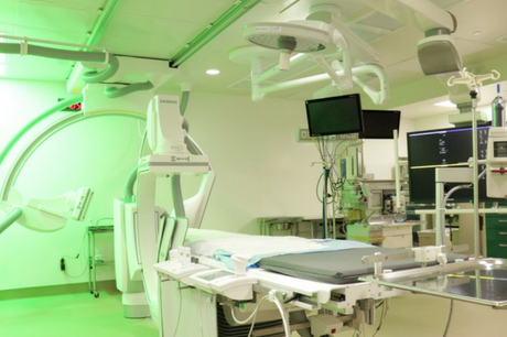 Inside of a surgical bay at Geisinger Medical Center