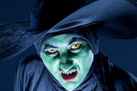 Witch with contact lenses