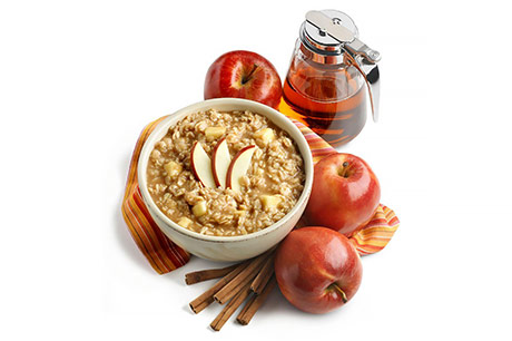 Maple apple overnight oats