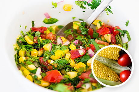 Tomato and Corn Salad with Basil