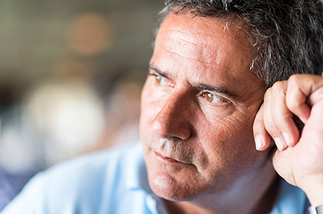 Man contemplating a potential transplant procedure