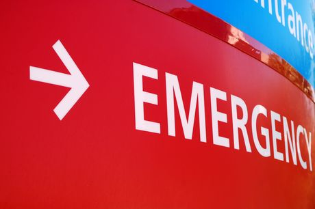 Emergency room sign during Covid-19