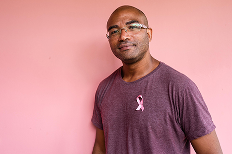 A man with breast cancer