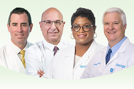 Shane Young, MD, George Avetian, DO, Jovan Adams, DO, and Gary Kemberling, DO