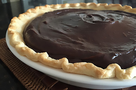 Celebrate National Pie Day with this nutritious version of chocolate mousse pie.