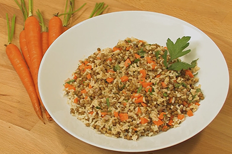 Rice and lentils