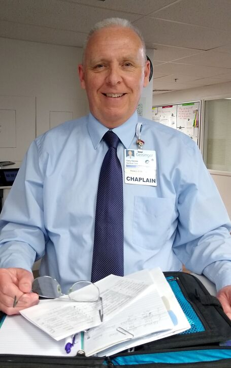 Gary Heinke, staff chaplain at Geisinger Shamokin Area Community Hospital provides spiritual care and guidance for patients and staff.