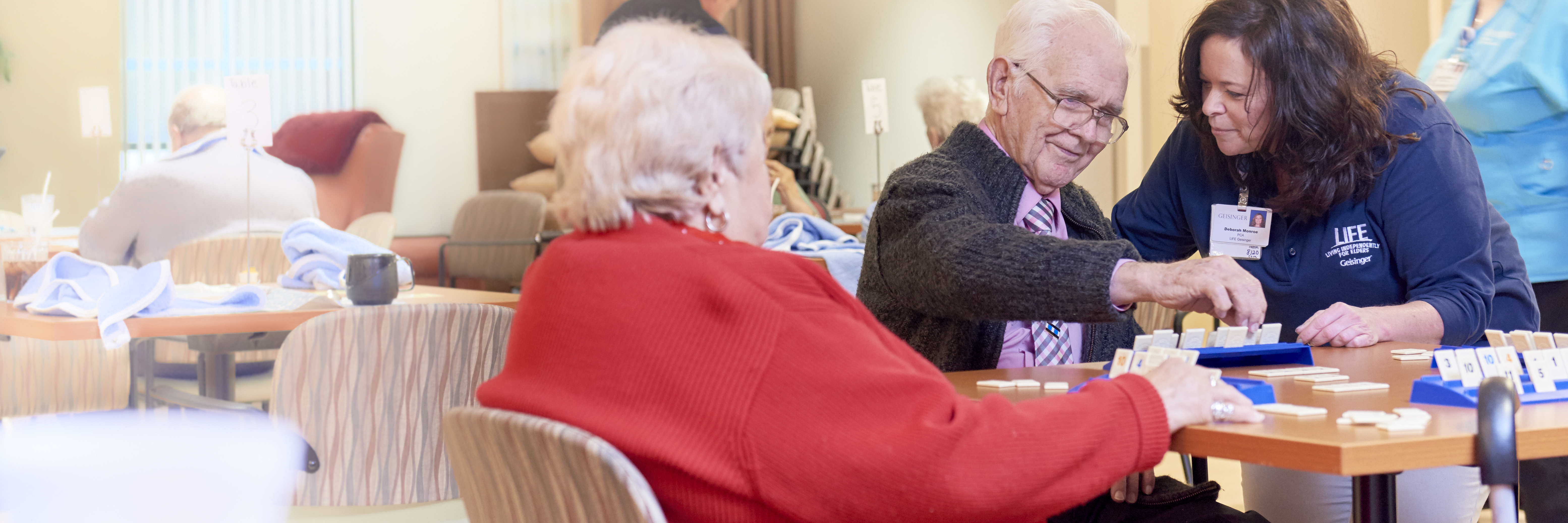 Patients playing a game at LIFE Geisinger